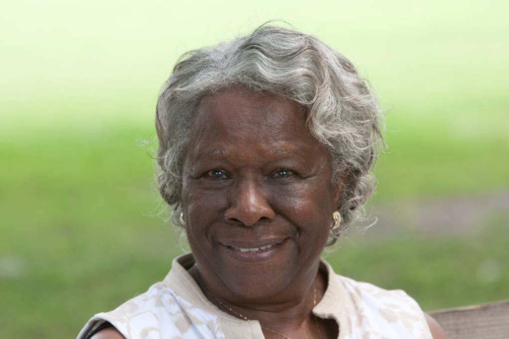 older woman smiling beautiful teeth