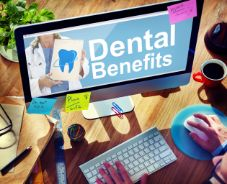 Computer screen that reads, Dental Benefits